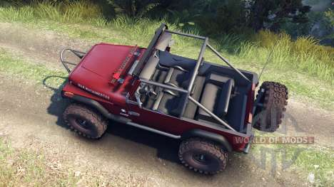 Jeep YJ 1987 Open Top maroon for Spin Tires