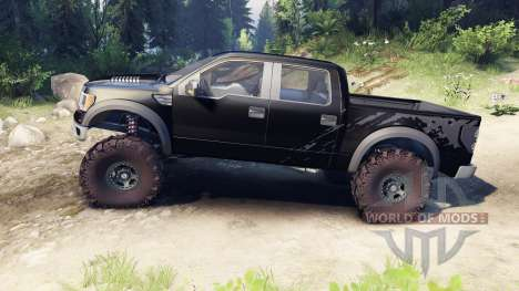 Ford Raptor SVT v1.2 factory tuxedo black for Spin Tires