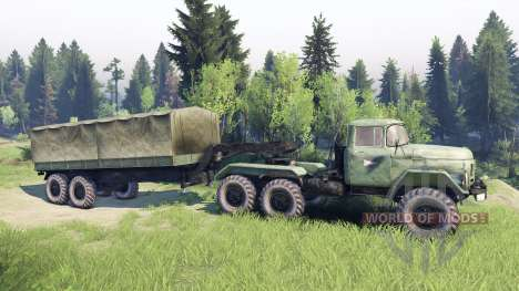 ЗиЛ-137 trailer tent for Spin Tires
