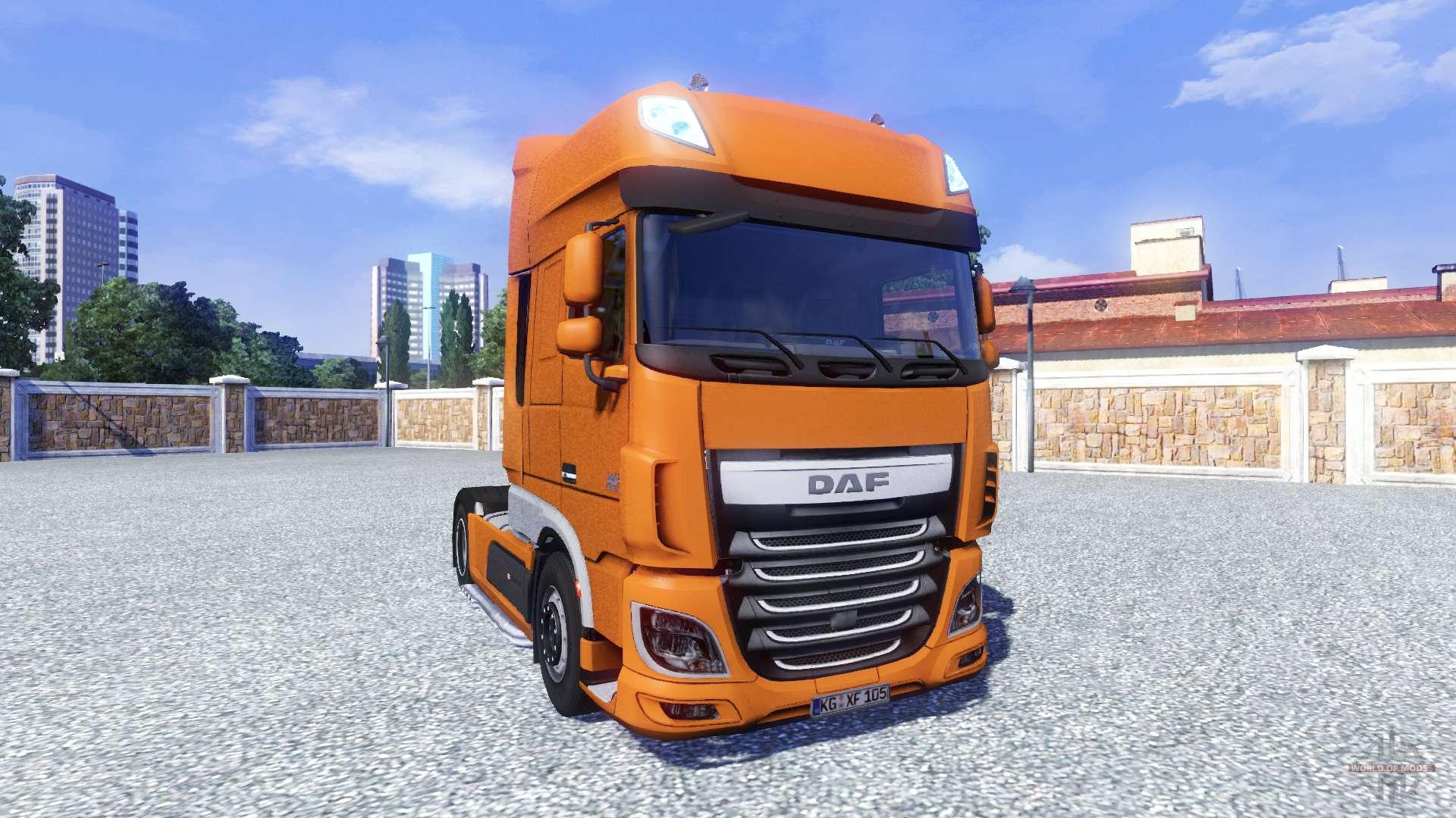 daf xf euro 6 for euro truck simulator 2. Black Bedroom Furniture Sets. Home Design Ideas