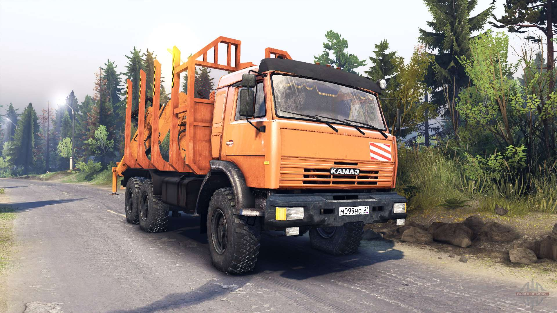 Mod Камаз 44108 Spin Tires