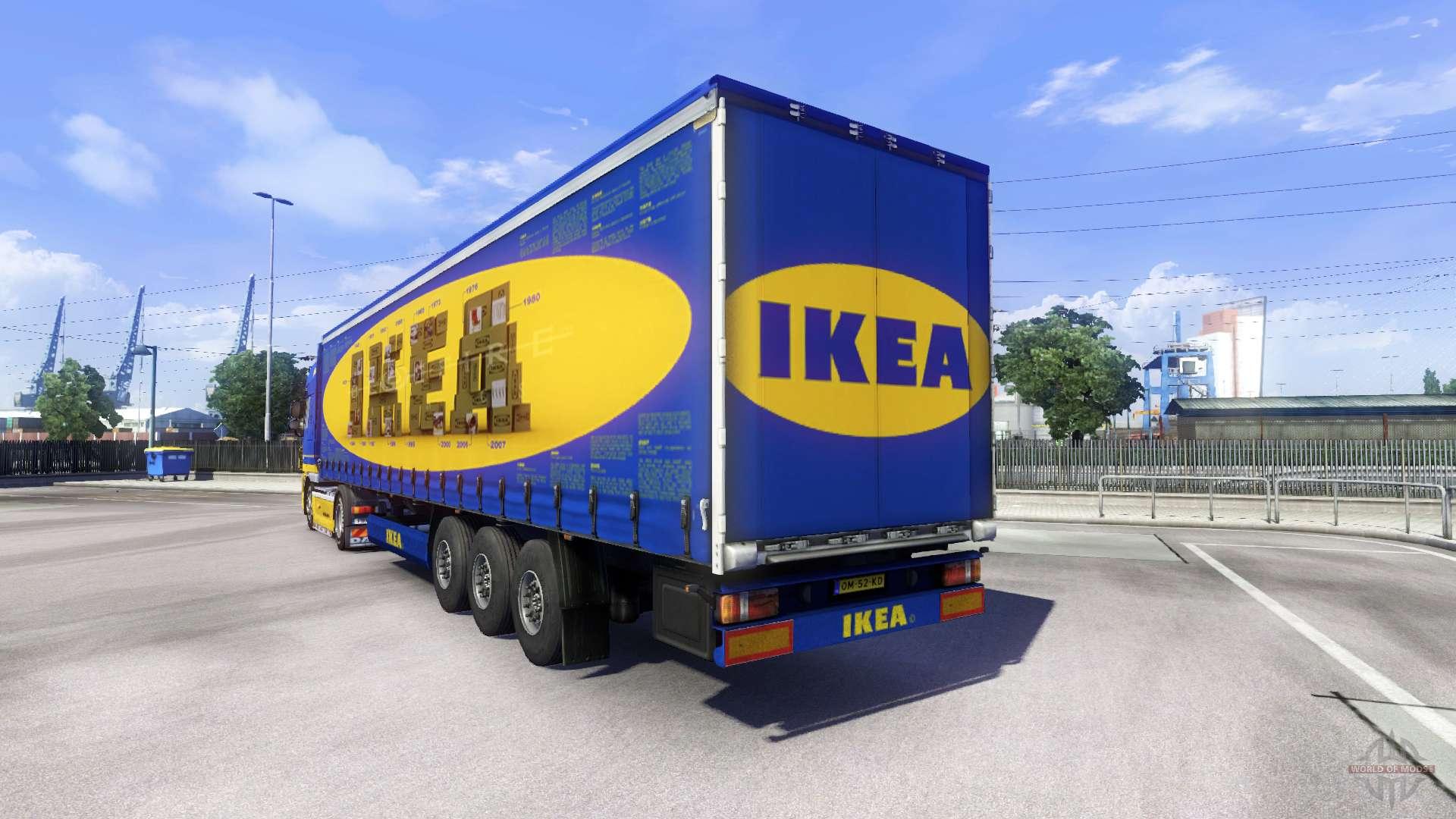 Skin ikea for daf xf tractor unit for euro truck simulator 2 Ikea simulation