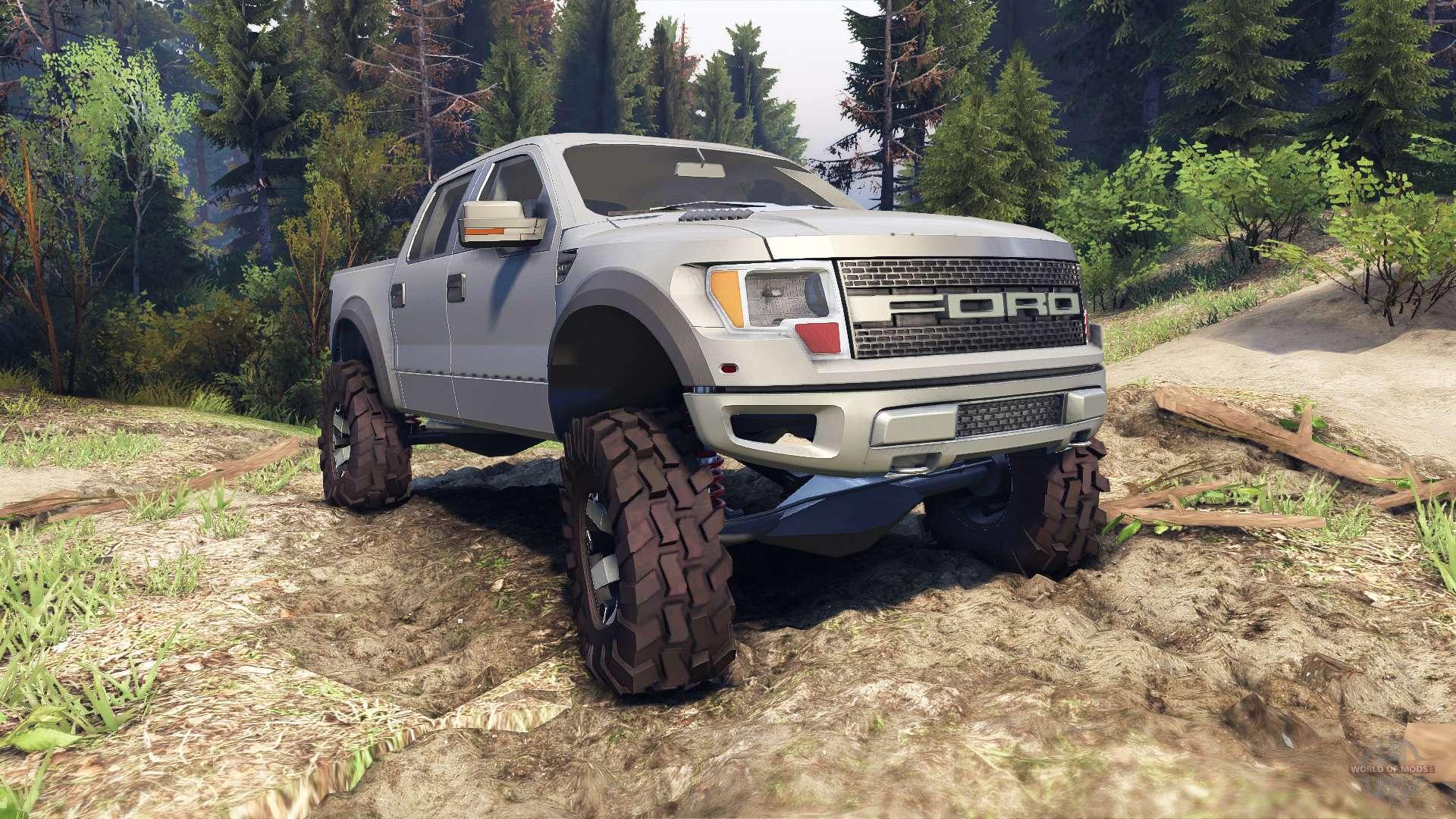 Ford Raptor Svt V1 2 Matte Gray For Spin Tires