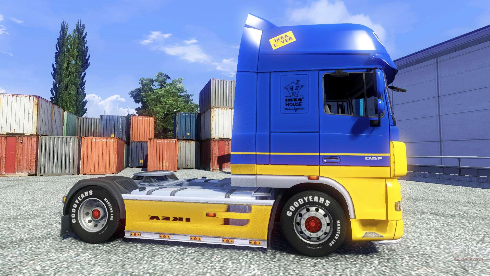 Skin ikea for daf xf tractor unit for euro truck simulator 2 for Ikea schlafsofa 79 euro