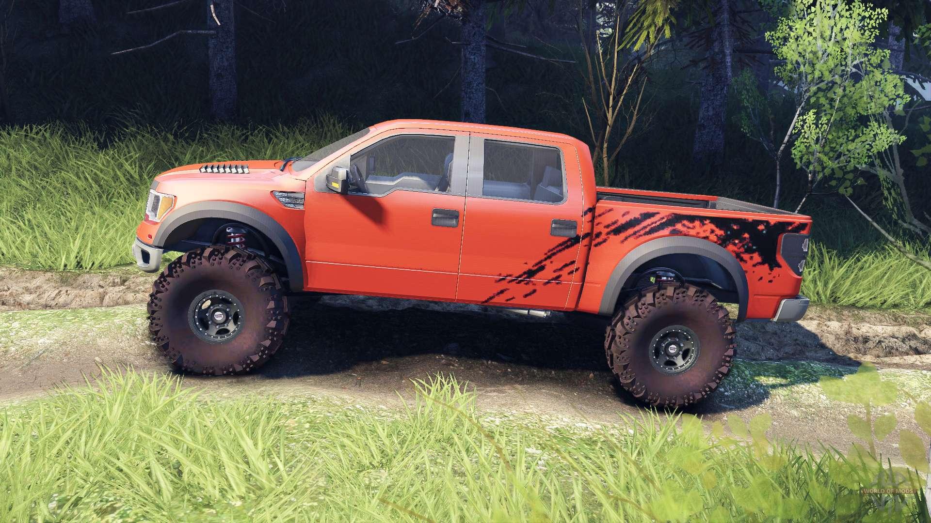 Ford Raptor Svt V1 2 Factory Comp Orange For Spin Tires