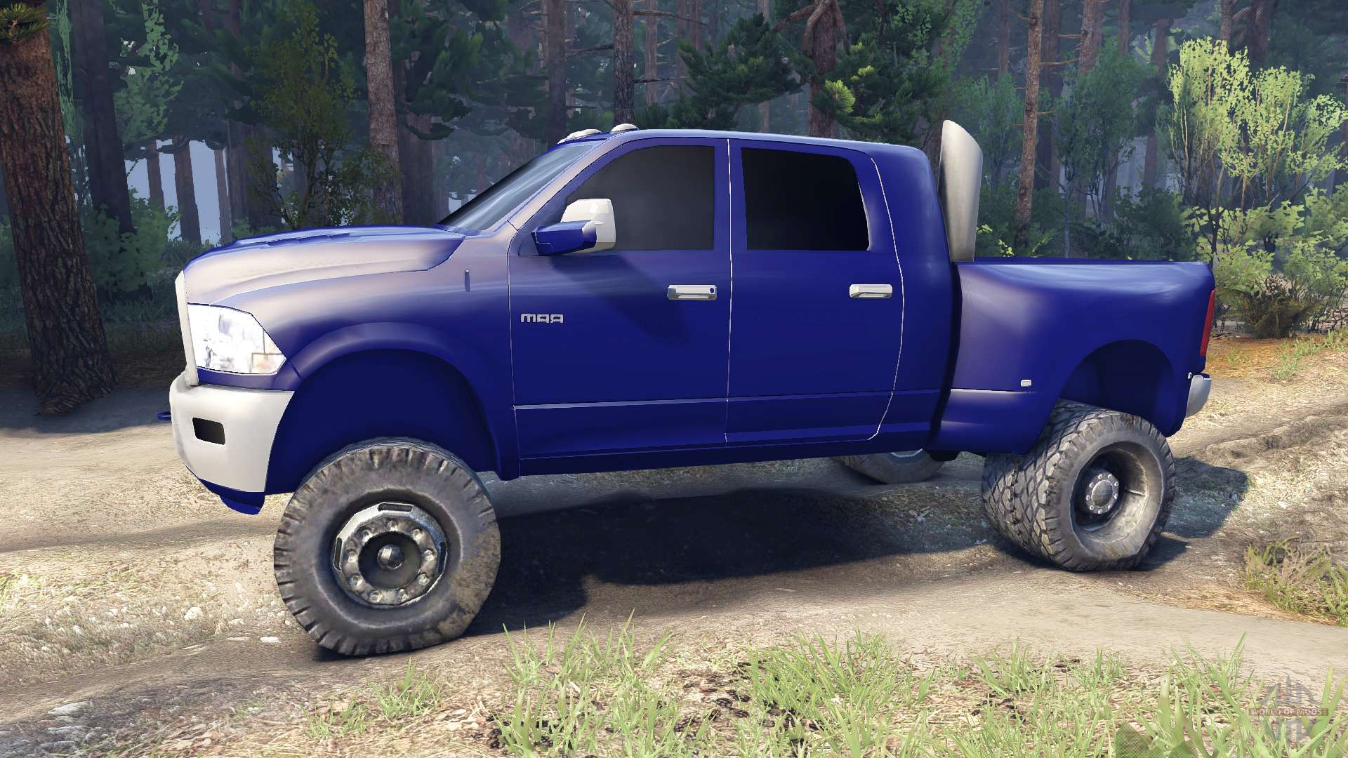 dodge ram 3500 dually v1 1 blue for spin tires. Black Bedroom Furniture Sets. Home Design Ideas
