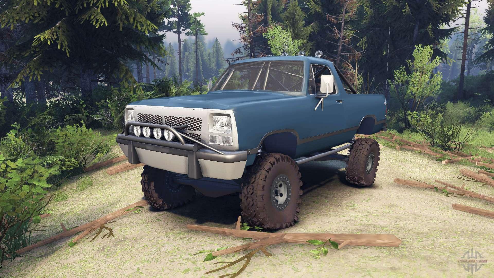 Dodge ramcharger 1991 open top v1 1 light blue