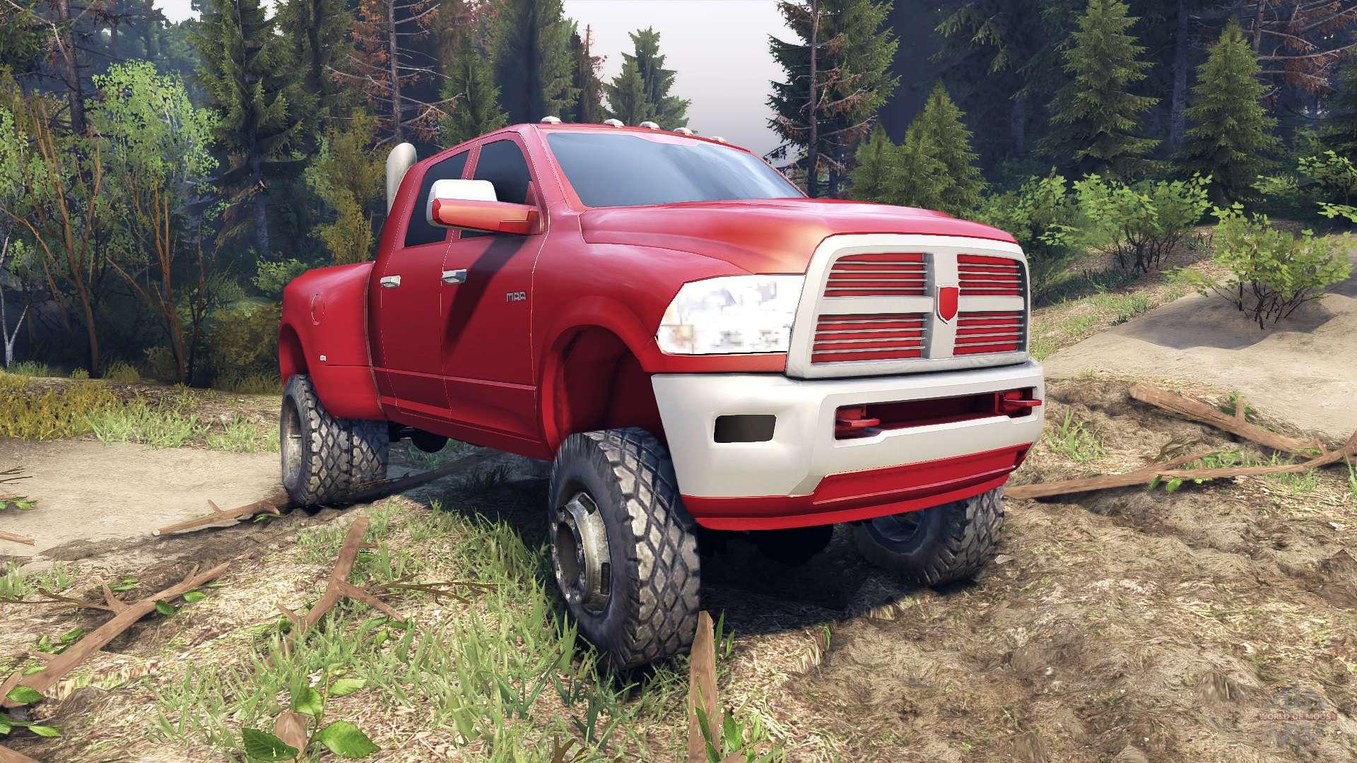 dodge ram 3500 dually v1 1 red for spin tires. Black Bedroom Furniture Sets. Home Design Ideas