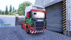 Skin Eddie Stobart on the tractor unit Scania