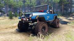 Jeep YJ 1987 Open Top blue