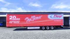 Skins on Fliegl semi-trailers for Euro Truck Simulator 2