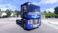 Skin Blue Dream on the tractor unit Renault Magn