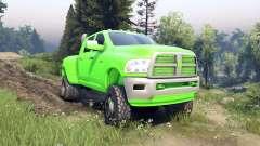 Dodge Ram 3500 dually v1.1 green for Spin Tires