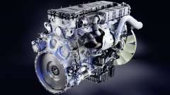 The sound of the diesel engine Mercedes-Benz Act