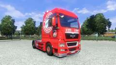 Skin FC Bayern Munchen on the truck MAN for Euro Truck Simulator 2