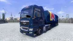 Skin Red Bull Racing Hochglanz on the truck MAN