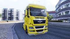 Skin Transformers on the truck MAN for Euro Truck Simulator 2