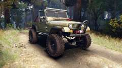 Jeep YJ 1987 Open Top green