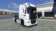 Skin White Edition for DAF XF tractor unit