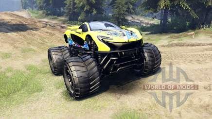 McLaren P1 Monster for Spin Tires