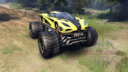 Koenigsegg One:1 Monster for Spin Tires