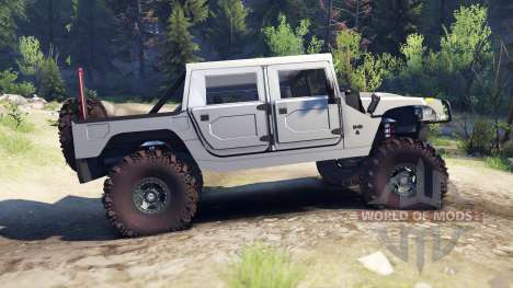 Hummer H1 silver for Spin Tires
