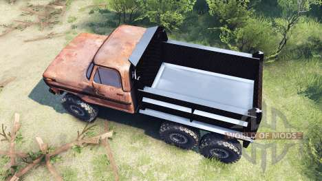 Ford F-100 6x6 v1.1 rusty for Spin Tires