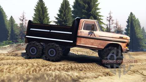 Ford F-100 6x6 v2.0 rusty for Spin Tires