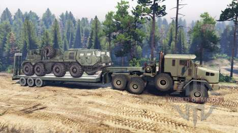 Oshkosh M1070 HET for Spin Tires