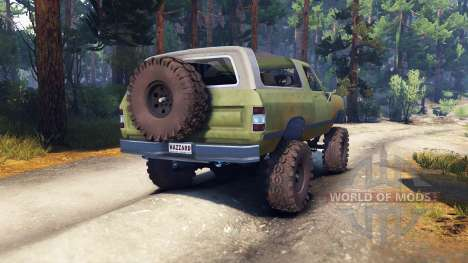 Dodge Ramcharger 1985 v0.1 for Spin Tires