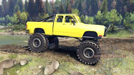 Dodge D200 yellow for Spin Tires