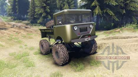 Jeep FC green for Spin Tires