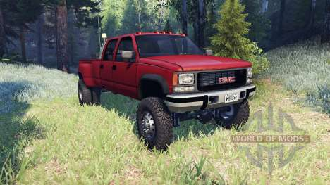 GMC Suburban 1995 Crew Cab Dually red for Spin Tires