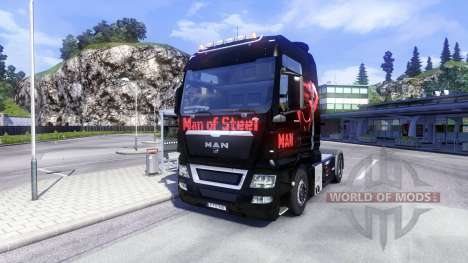 Skin Man Of Steel on the truck MAN for Euro Truck Simulator 2