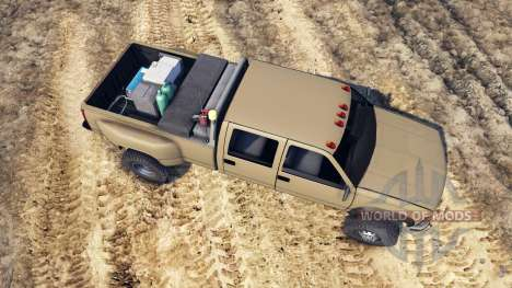 GMC Suburban 1995 Crew Cab Dually tan for Spin Tires