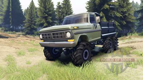 Ford F-100 6x6 v2.0 for Spin Tires