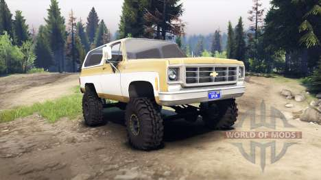 Chevrolet K5 Blazer 1975 light saddle and white for Spin Tires