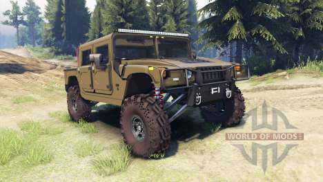 Hummer H1 army green for Spin Tires