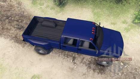 GMC Suburban 1995 Crew Cab Dually blue for Spin Tires