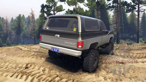 Chevrolet K5 Blazer 1975 black and silver for Spin Tires