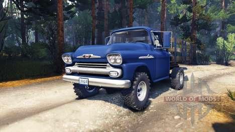 Chevrolet Apache 1959 Fleetside v1.1 for Spin Tires