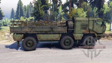 KAMAZ Typhoon 6x6 truck for Spin Tires