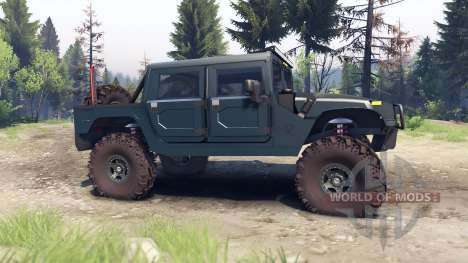 Hummer H1 ocean blue for Spin Tires