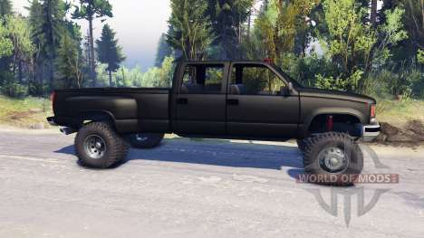 GMC Suburban 1995 Crew Cab Dually black for Spin Tires