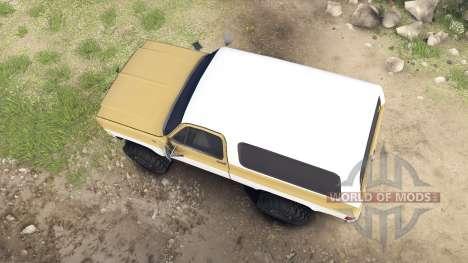 Chevrolet K5 Blazer 1975 light saddle and white for Spin Tires