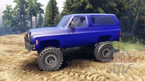 Chevrolet K5 Blazer 1975 v1.5 blue for Spin Tires