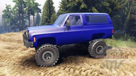 Chevrolet K5 Blazer 1975 v1.5 blue for Spin Tires