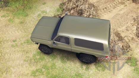 Chevrolet K5 Blazer 1975 army green for Spin Tires