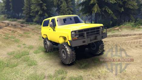 Chevrolet K5 Blazer 1975 v1.5 yellow for Spin Tires
