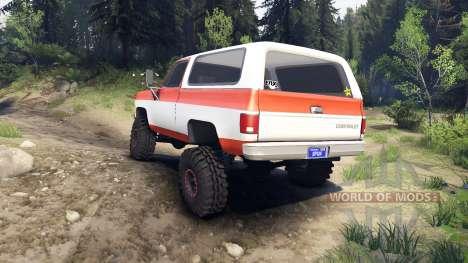 Chevrolet K5 Blazer 1975 orange and white for Spin Tires